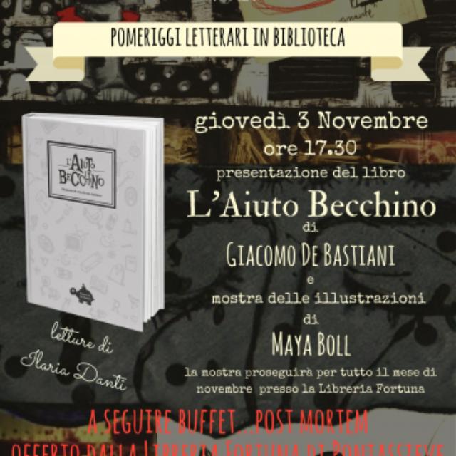 3 novembre ore 17,30 alla Biblioteca Comuanle di Pontassieve!